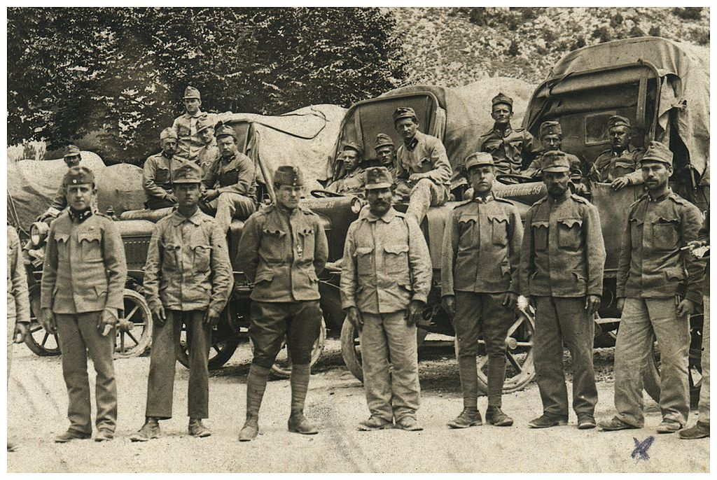 Żołnierze po przyjeździe do Bludenz